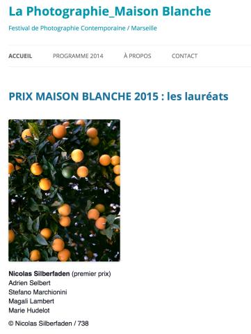 Lauréate du prix photo Maison Blanche, Marseille