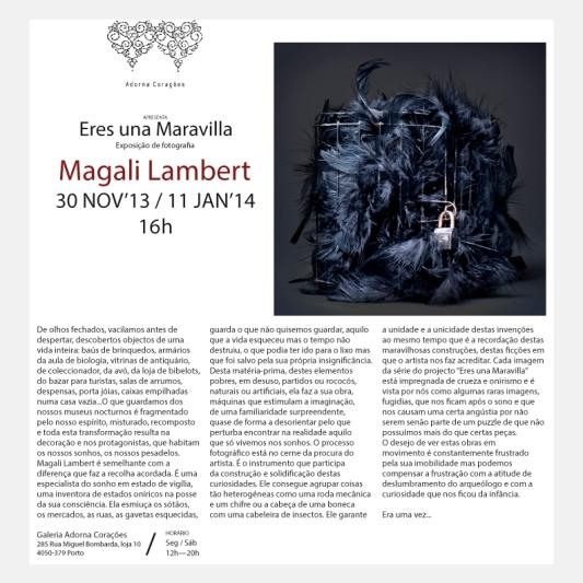 Exposition personnelle Eres una Maravilla, Galerie Adorna Corações, Porto©MagaliLambert