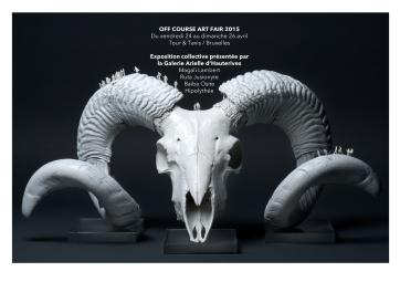 """OFF Course Art Fair - Galerie Arielle d'Hauterives - Bruxelles - du jeudi 2"""" au dimanche 26 avril 2015"""