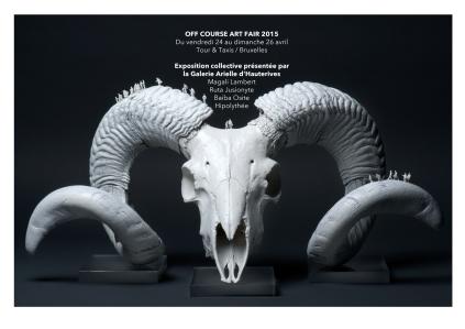 "OFF Course Art Fair - Galerie Arielle d'Hauterives - Bruxelles - du jeudi 2"" au dimanche 26 avril 2015©MagaliLambert-ADAGP"