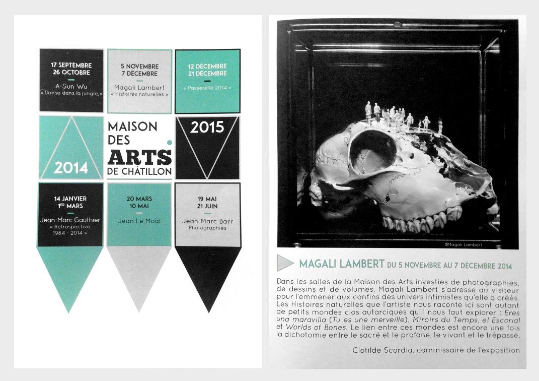 Programme 2014-2015 de la Maison des Arts de Châtillon©MagaliLambert-ADAGP